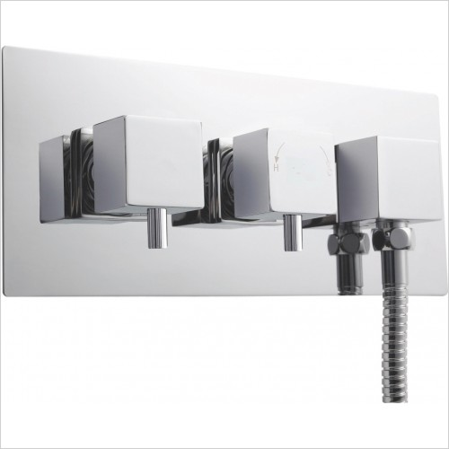 Nuie - Twin Thermostatic Shower Valve With Diverter