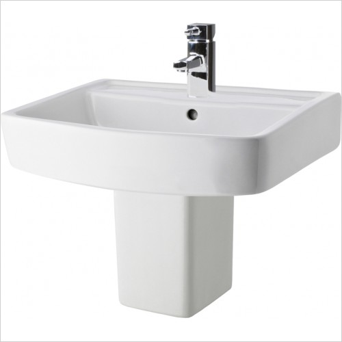 Nuie - Bliss 520mm Basin & Semi Pedestal