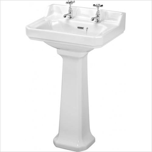 Nuie - Carlton 560mm 2TH Basin & Full Pedestal