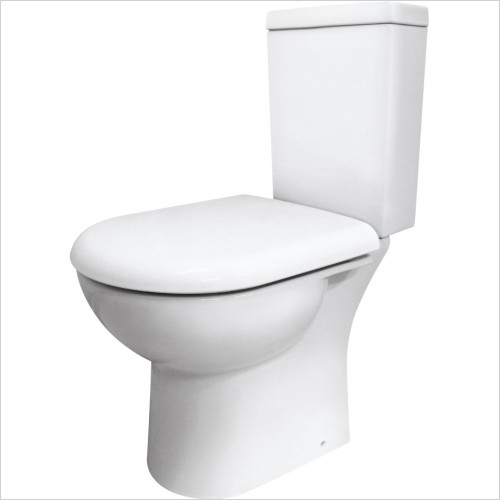 Nuie - Knedlington Compact Semi Flush To Wall Pan & Cistern