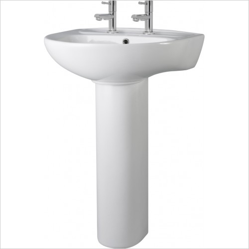 Nuie - 550mm Basin & Pedestal