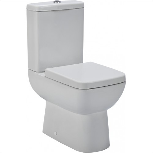 Nuie - Ambrose Compact Semi Flush To Wall Pan & Cistern
