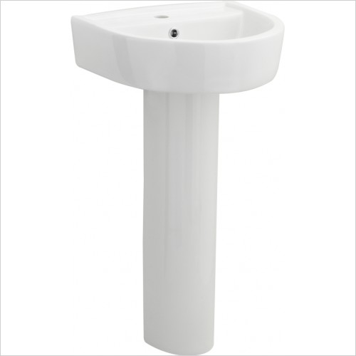 Nuie - 420mm Basin & Pedestal