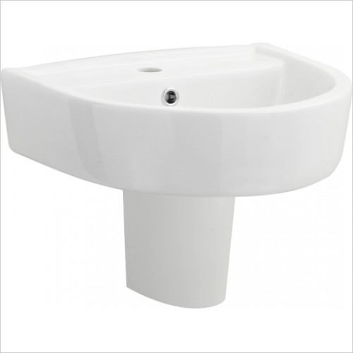 Nuie - 420mm Basin & Semi Pedestal