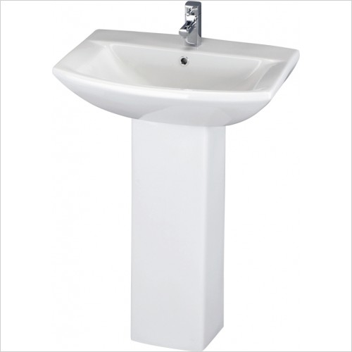 Nuie - Asselby 600mm Basin & Pedestal