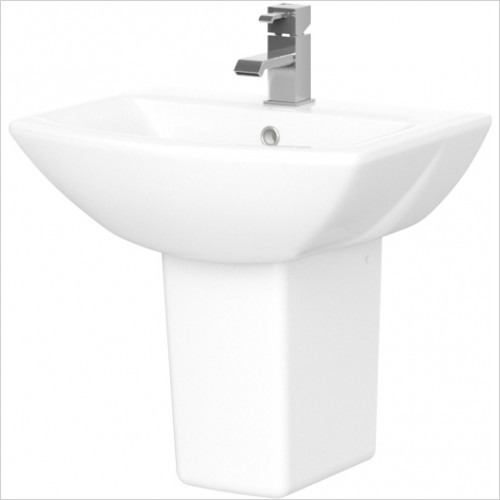Nuie - Asselby 500mm Basin & Semi Pedestal