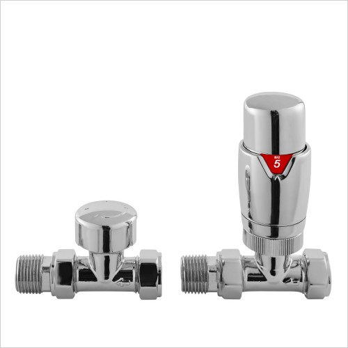 Nuie - Angled Thermostatic Radiator Valve Pack