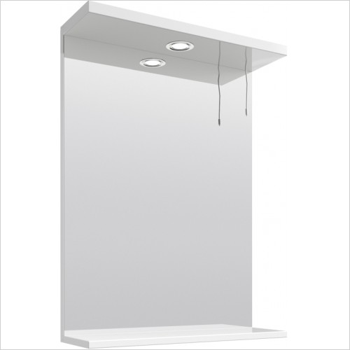 Nuie - Mayford 550mm PR Mirror With 1 Light