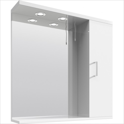 Nuie - Mayford 750mm PR Mirror With 2 Lights