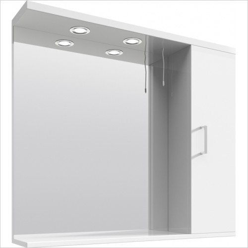 Nuie - Mayford 850mm PR Mirror With 2 Lights
