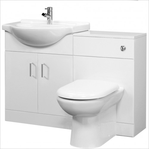 Nuie - Saturn Cloakroom Furniture Pack Round Basin