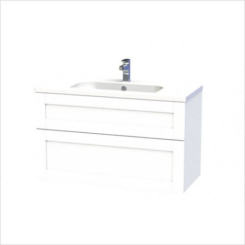 Miller Bathrooms - London Vanity Unit 100cm With 2 Drawers