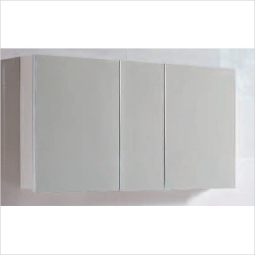 Qualitex Bathrooms - Options 120 Mirrored Cabinet 1171x135x615mm