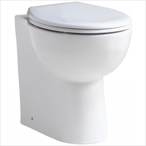 Qualitex Bathrooms - Comfort Extra Height Back To Wall Pan