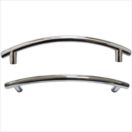Qualitex Bathrooms - Genesis Q-Line Curved Bar Handle