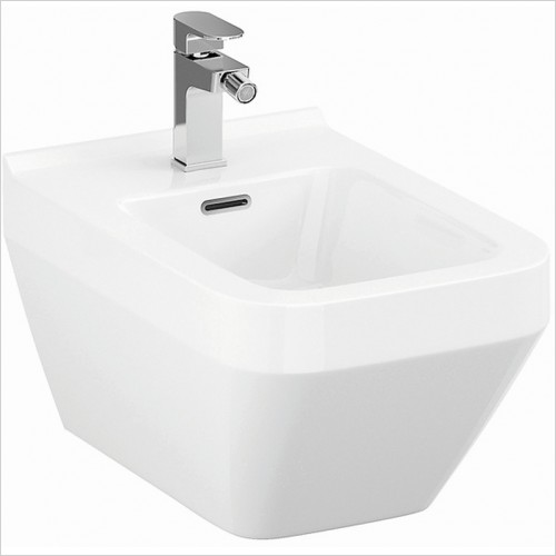 Qualitex Bathrooms - Crea Square Wall-Hung Bidet