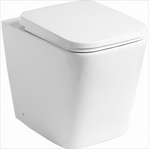 Qualitex Bathrooms - Monza Rimless Back To Wall Pan & Soft Close Seat