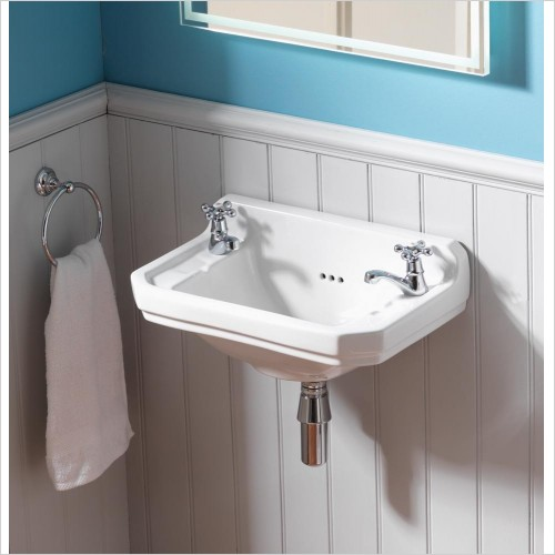 Qualitex Bathrooms - Nostalgic Cloakroom Basin 500x310mm, 2TH Only