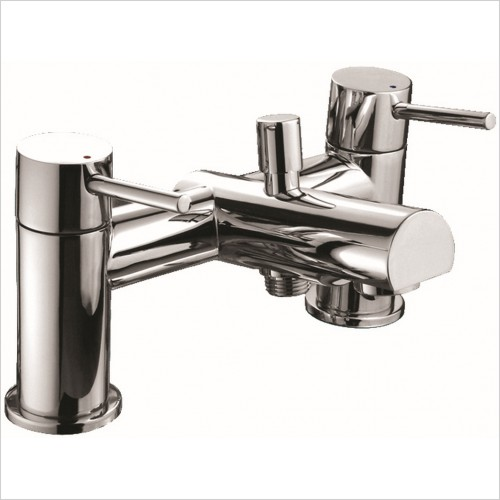 Qualitex Bathrooms - Ohio 2TH Bath Shower Mixer With Shower Kit