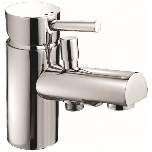 Qualitex Bathrooms - Ohio 1TH Bath Shower Mixer With Shower Kit