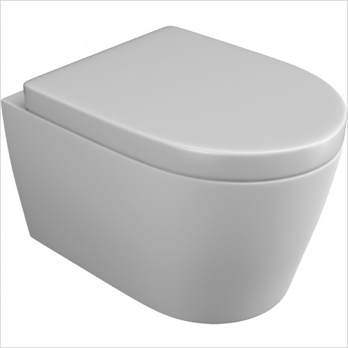 Qualitex Bathrooms - Opal Back To Wall Pan & Soft Close Seat