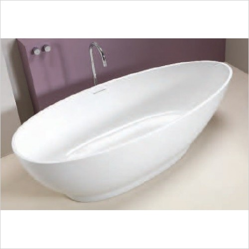 Qualitex Bathrooms - Icon Contemporary Freestanding Bath 1750x830mm