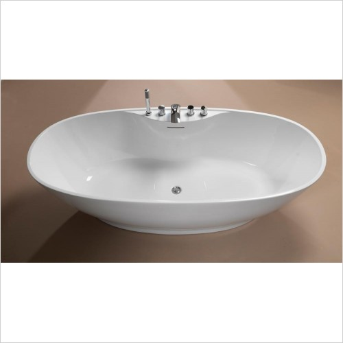 Qualitex Bathrooms - Oregon Freestanding Bath 1850x850mm With Waste