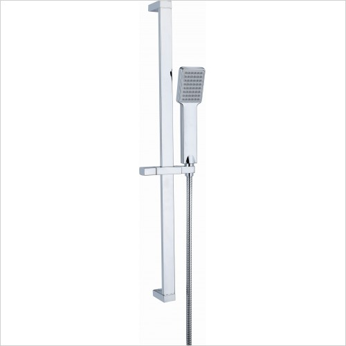 Qualitex Bathrooms - Nevada Riser Kit With Square Handset & Inlet