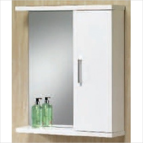 Qualitex Bathrooms - Richmond 65 Mirror Cabinet 650x165x750mm