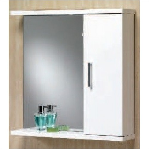 Qualitex Bathrooms - Richmond 75 Mirrored Cabinet 750x165x750mm