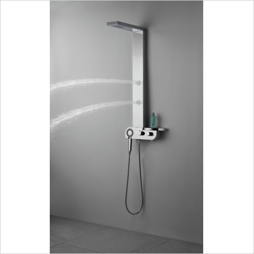 Qualitex Bathrooms - Milan Shower Column 1120x130