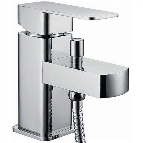 Qualitex Bathrooms - Utah Bath Shower Mixer With Shower Kit 1TH