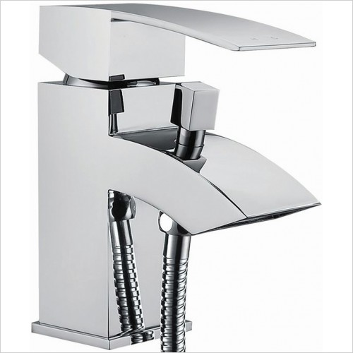 Qualitex Bathrooms - Vermont Bath Shower Mixer With Shower Kit 1TH