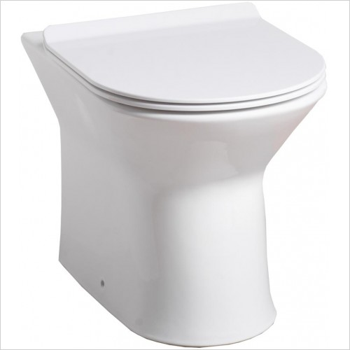 Qualitex Bathrooms - Venice Back To Wall Pan & Soft Close Seat