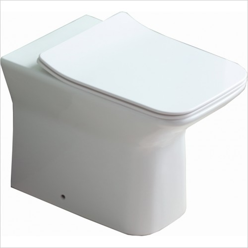 Qualitex Bathrooms - Verona Rimless Back To Wall Pan & Soft Close Seat