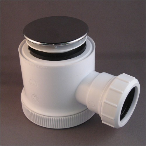 Qualitex Bathrooms - 50mm Seal Shower Trap (90mm Height) With Dome