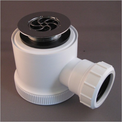 Qualitex Bathrooms - 50mm Seal Shower Trap (90mm Height) With Grid