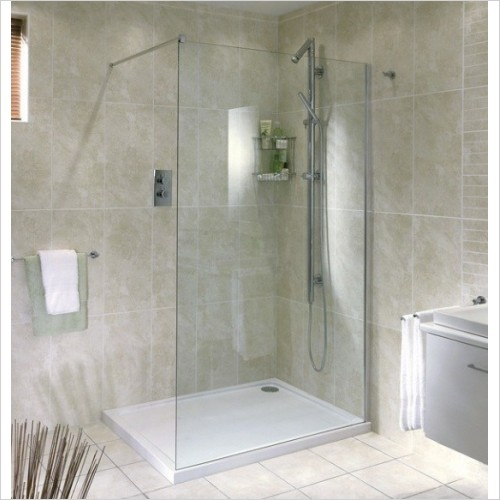 Aqata - Spectra Shower Screen Recess 1400mm LH Entry
