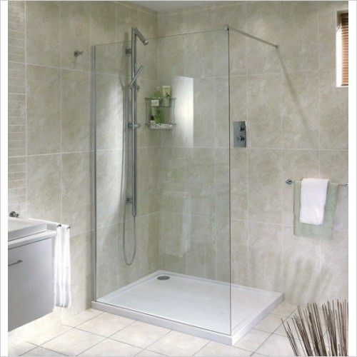 Aqata - Spectra Shower Screen Recess 700mm RH Entry