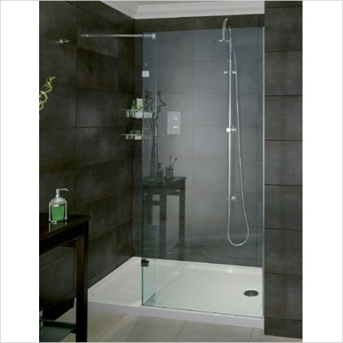 Aqata - Spectra Shower Screen Recess 1400x900mm LH Entry