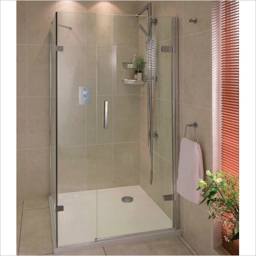 Aqata - Spectra Hinged Door In Line Side Screen 1000x760mm RHC