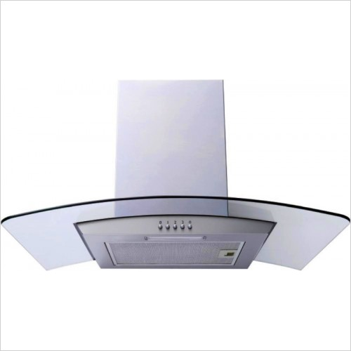 Prima Appliances - 70cm Curved Glass Chimney Hood